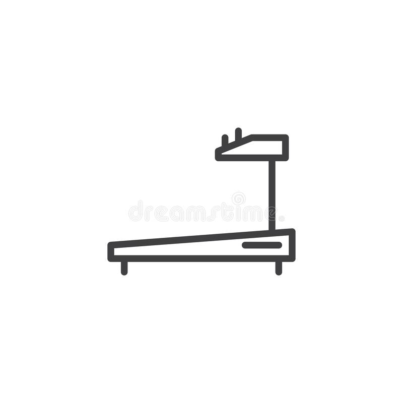 Treadmill outline icon vector illustration