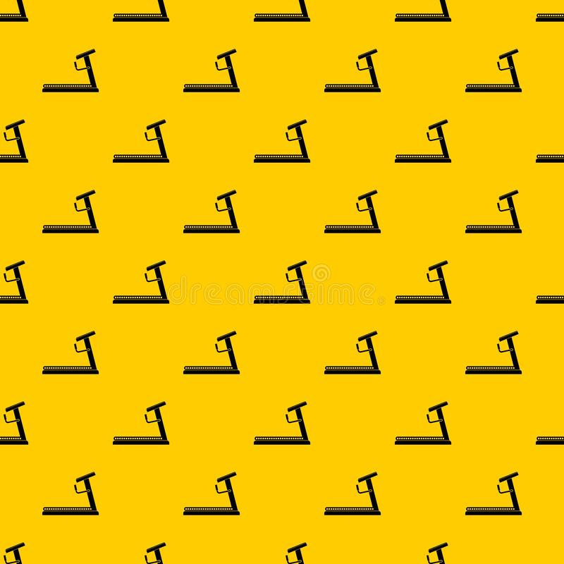 Treadmill pattern vector. Treadmill pattern seamless vector repeat geometric yellow for any design vector illustration