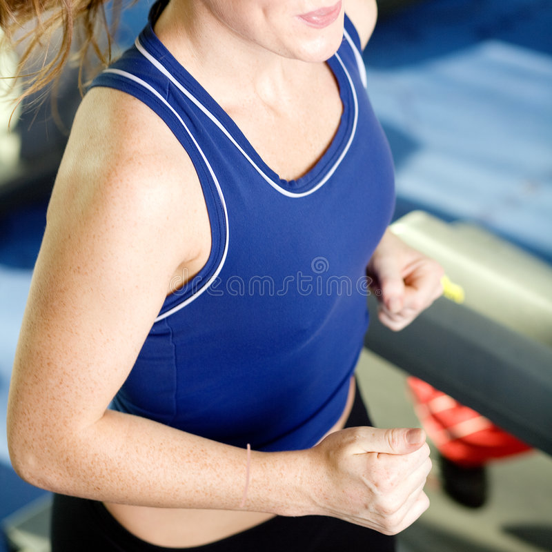Download Treadmill Running In The Gym Stock Photo - Image: 6723504