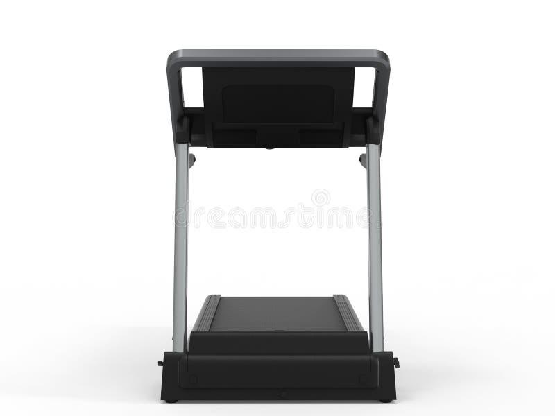 Treadmill or running machine. 3d rendering treadmill or running machine on white background royalty free illustration