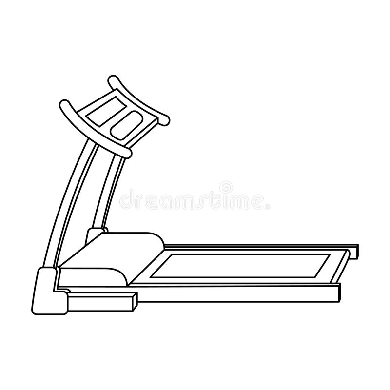 Treadmill. Running simulator for training in the gym.Gym And Workout single icon in outline style vector symbol stock vector illustration