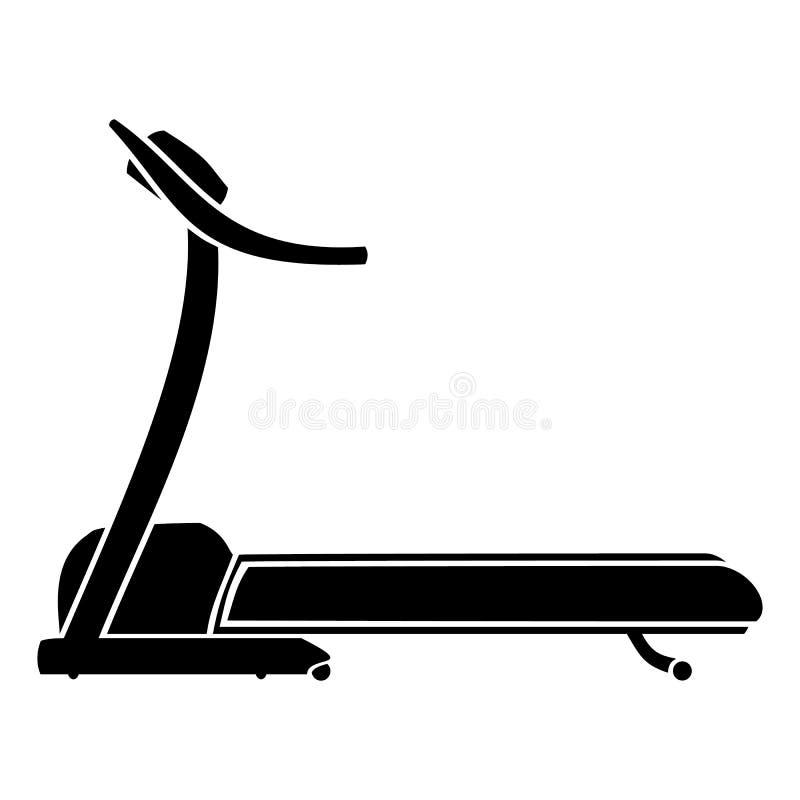 Treadmill. The silhouette of the treadmill. Vector illustration vector illustration