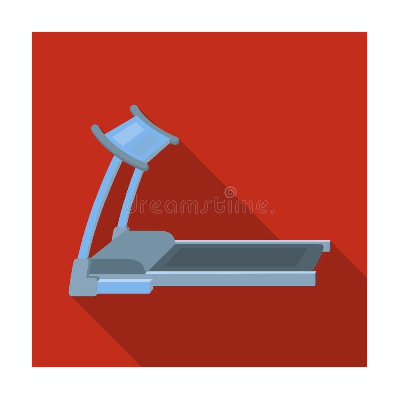treadmill Simulatore corrente per la formazione nella palestra La singola icona di allenamento e della palestra nello stile piano illustrazione vettoriale