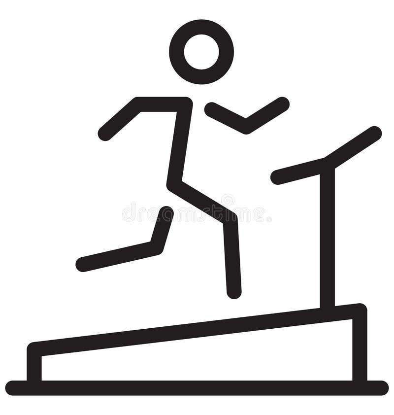 Treadmill Single Line Vector Illustration stock illustration