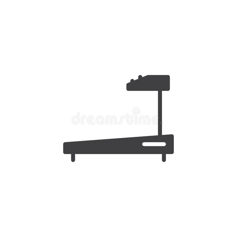 Treadmill vector icon. Filled flat sign for mobile concept and web design. Fitness, gym simple solid icon. Symbol, logo illustration. Pixel perfect vector vector illustration