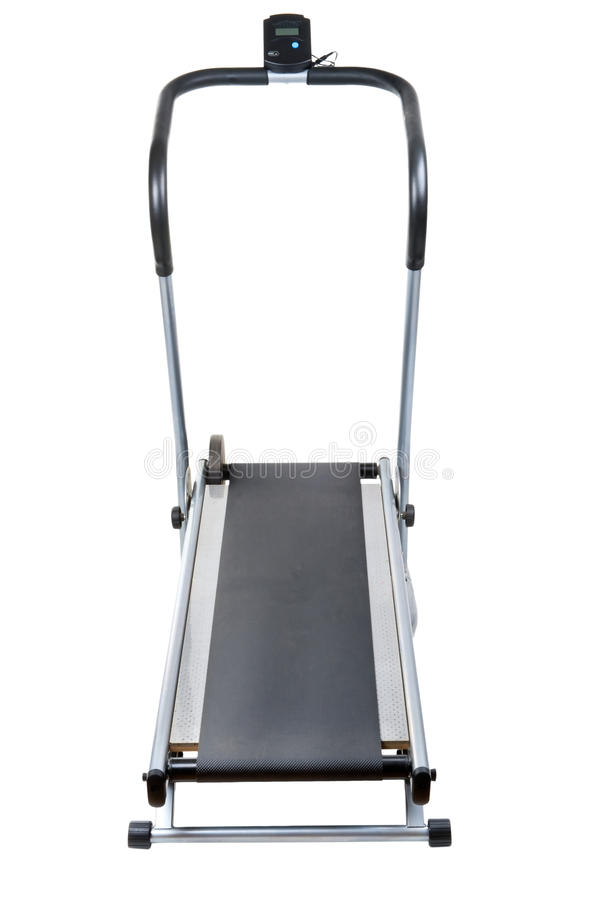 Treadmill on white background