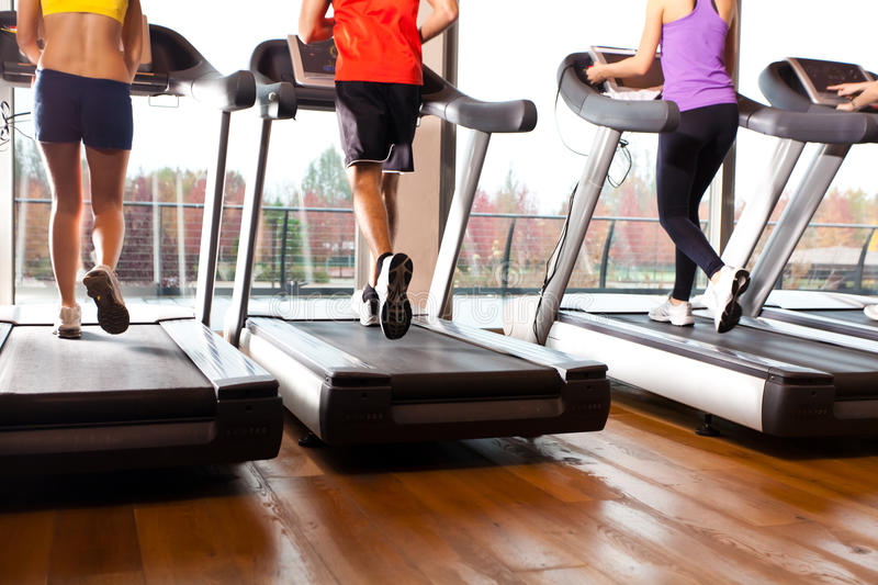 Treadmills stock image