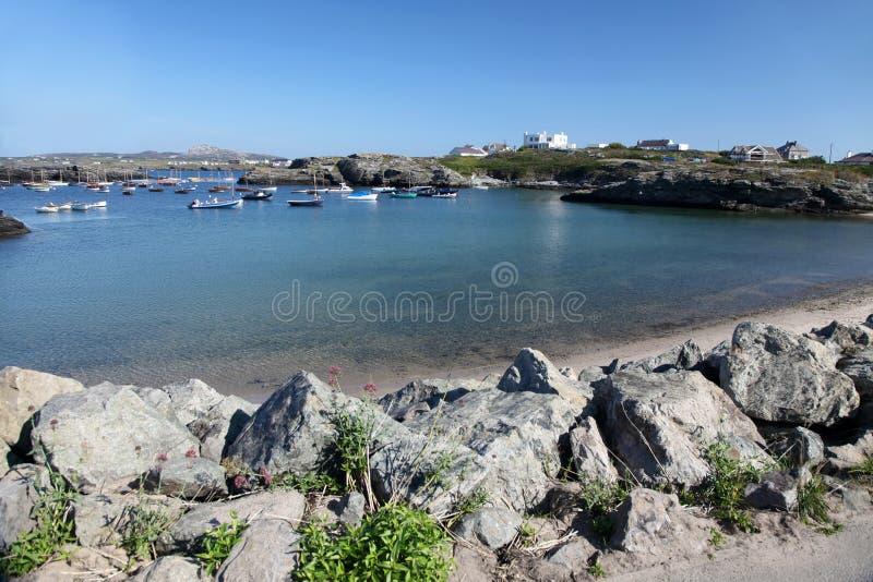 Trearddur-Bucht, Anglesey stockbild