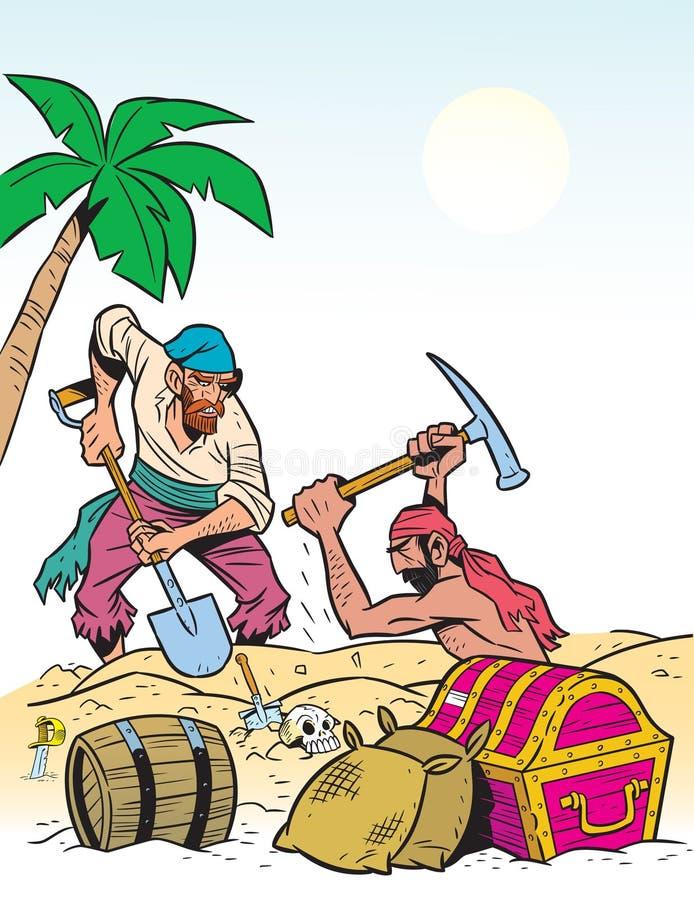 Download Treasure stock vector. Image of pirates, daring, sword - 21597867