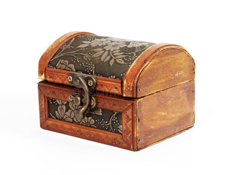 Treasure box. Isolated on white background stock photo