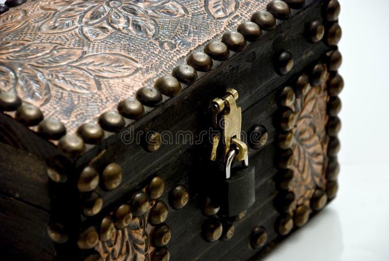 Treasure Box Closeup Royalty Free Stock Photos
