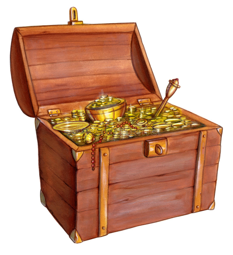 Treasure chest royalty free illustration