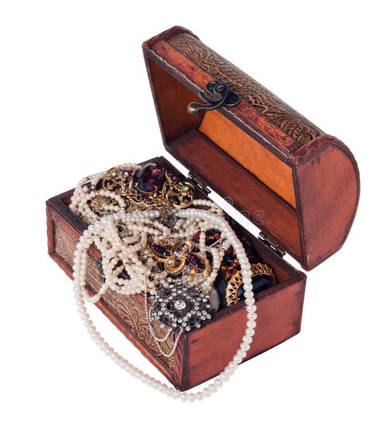 Download Treasure chest stock image. Image of full, metal, rich - 21927525