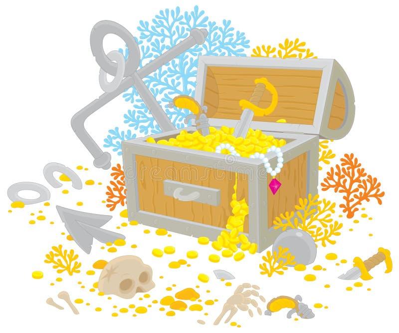 Download Treasure chest stock vector. Image of robber, cartoon - 24266165