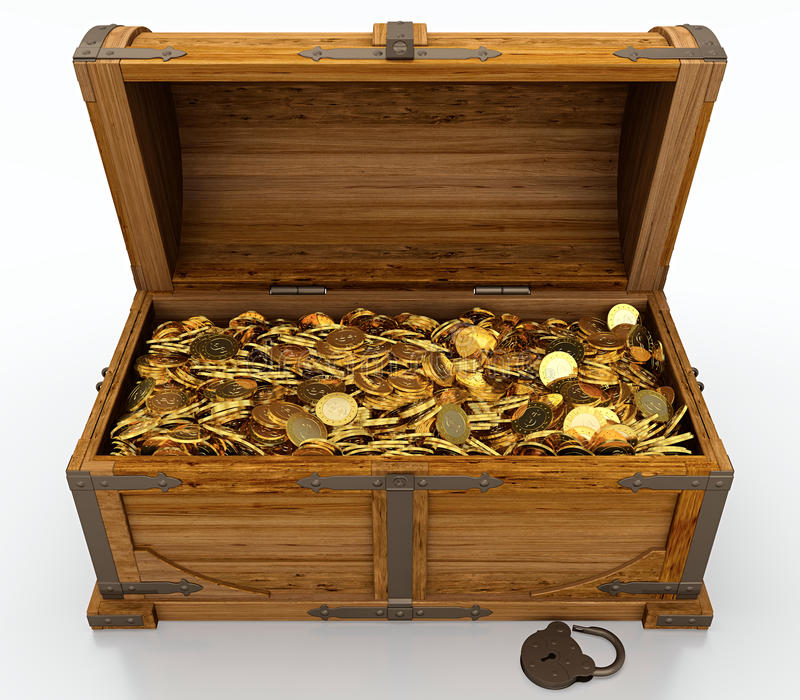 Download Treasure chest stock photo. Image of large, lock, luck - 24641284
