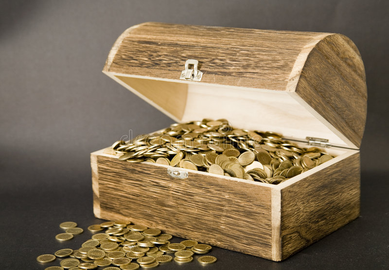Download Treasure-chest stock photo. Image of profit, isolated - 5236972
