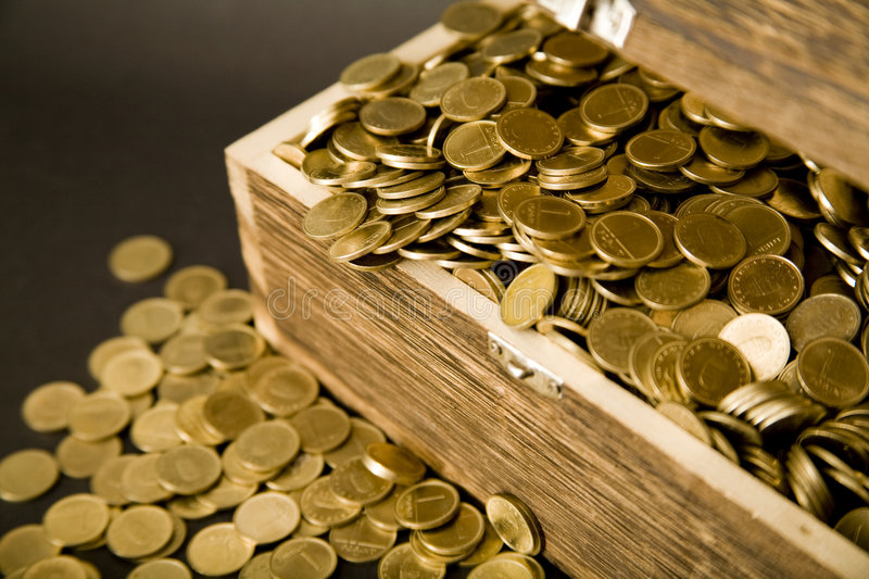 Treasure-chest stock photo