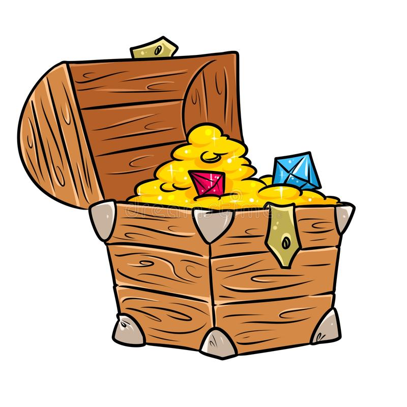 treasure chest cartoon stock illustration illustration of graphics rh dreamstime com treasure chests clip art Open Treasure Chest Clip Art