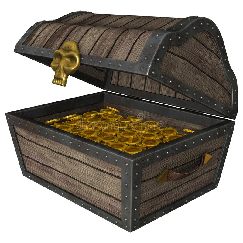Download Treasure Chest stock illustration. Illustration of capital - 43269309