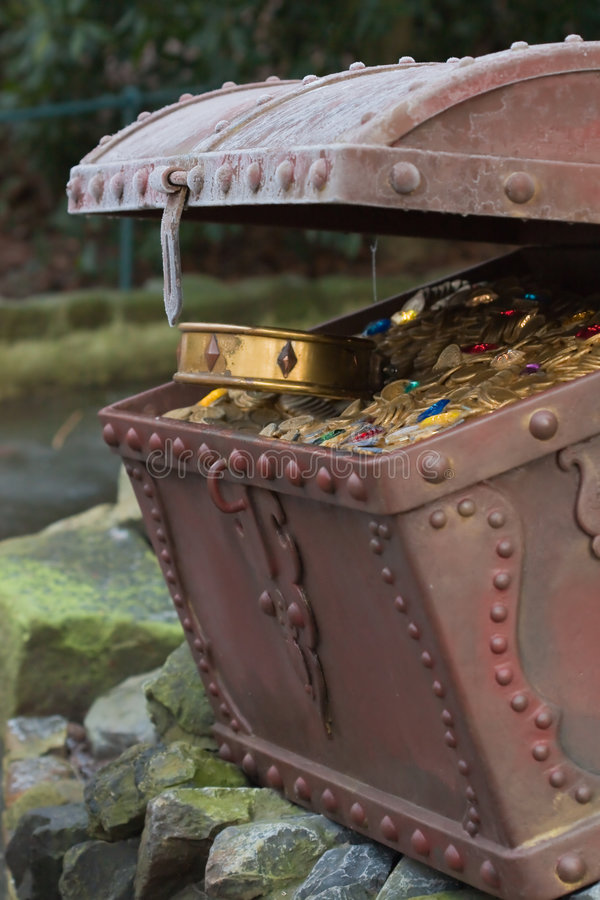 Download Treasure chest with gold stock photo. Image of cash, chest - 8800500