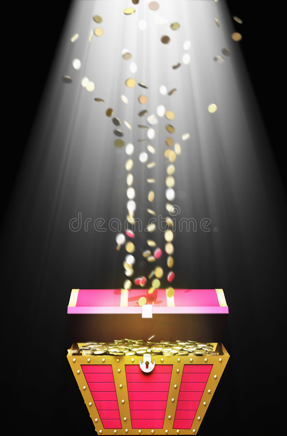 Download Treasure Chest With Gold Coins Stock Illustration - Image: 2840751