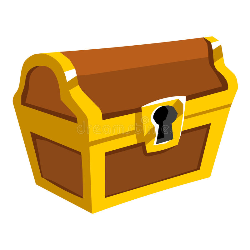 treasure chest isolated illustration stock vector illustration of rh dreamstime com treasure chest vector png treasure chest vector clip art