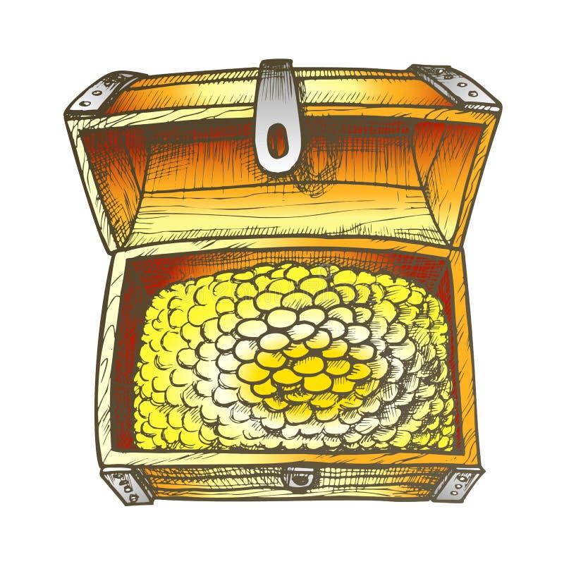 Treasure Chest Pirate Coins Vector ilustracja wektor