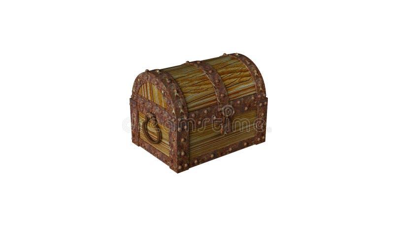 Treasure chest with treasure vector illustration