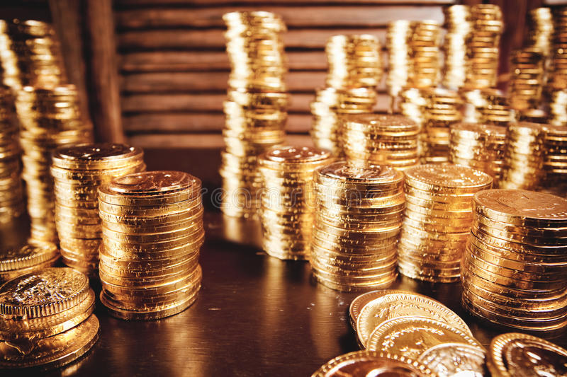 Download Treasure coins on table stock photo. Image of exchange - 13788928