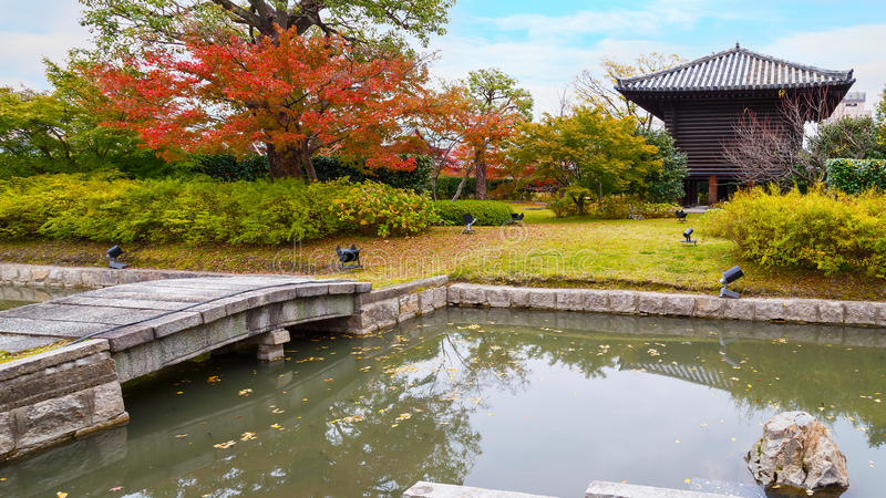 Treasure House at Toji Temple in Kyoto stock images