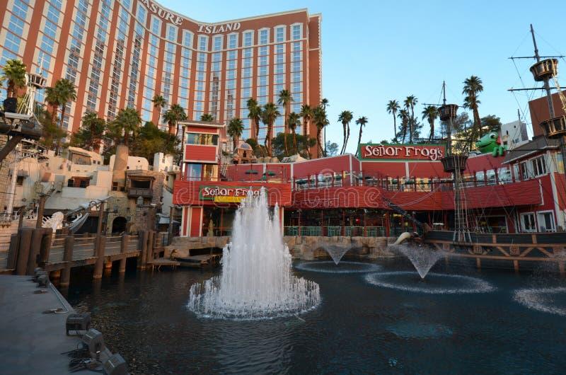 Treasure Island Hotel and Casino, Treasure Island Hotel and Casino, landmark, amusement park, water feature, waterway. Treasure Island Hotel and Casino, Treasure royalty free stock photos
