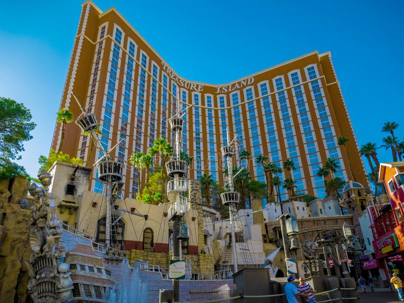 Treasure Island i Las Vegas, Nevada, Förenta staterna arkivfoton