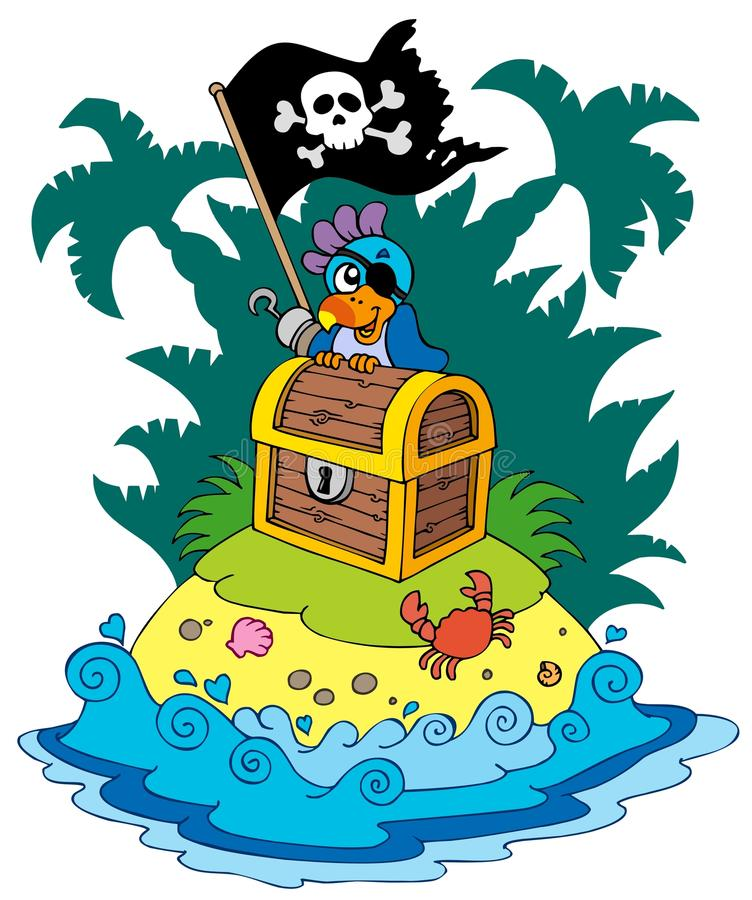 Download Treasure Island With Pirate Parrot Stock Photography - Image: 16146452