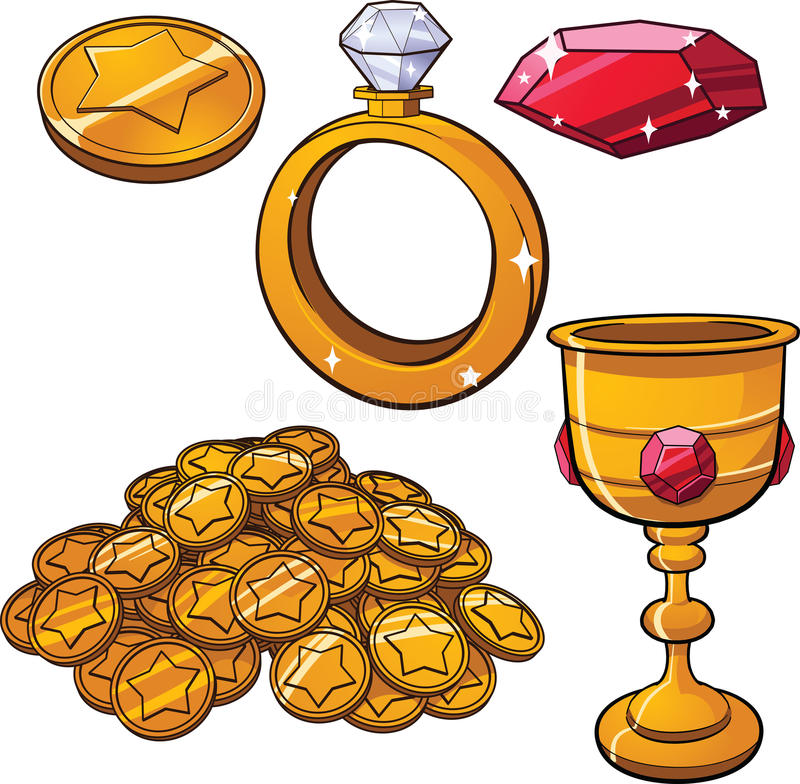 Treasure jewels vector illustration