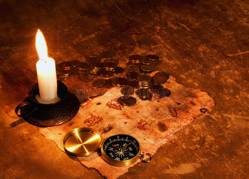Download Treasure map stock photo. Image of direction, coin, brown - 14423996