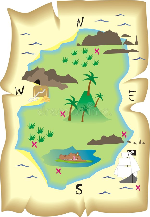 Treasure Map Stock Vector. Illustration Of Clues, Find