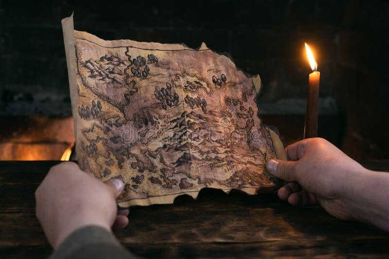 Treasure map. stock image
