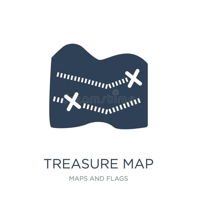 Treasure map with x icon in trendy design style. treasure map with x icon isolated on white background. treasure map with x vector. Icon simple and modern flat vector illustration