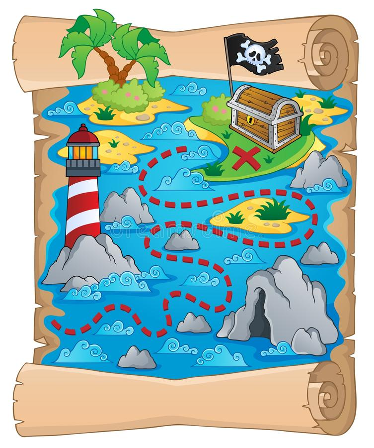 Treasure map theme image 5 stock illustration