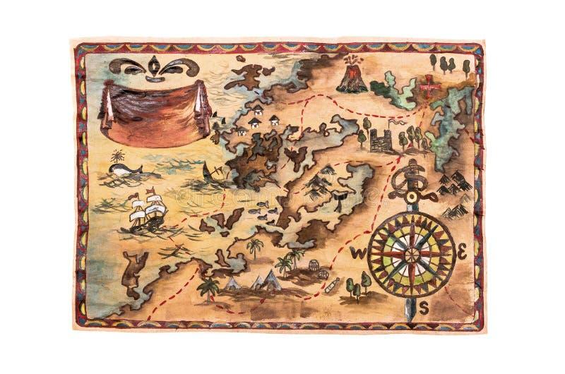 Treasure map. royalty free stock images