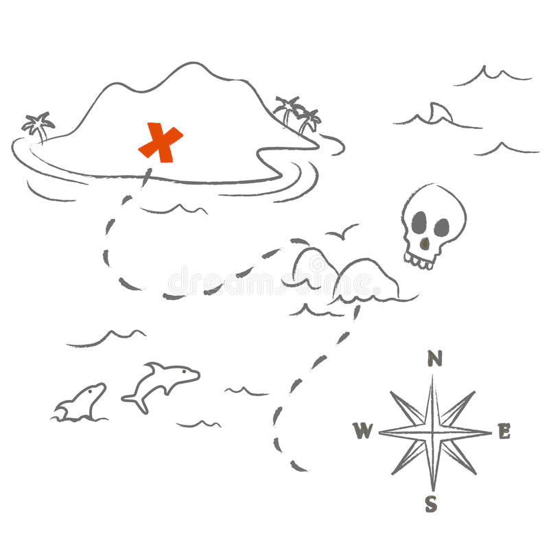Download Treasure map vector stock vector. Image of graphic, element - 27680961