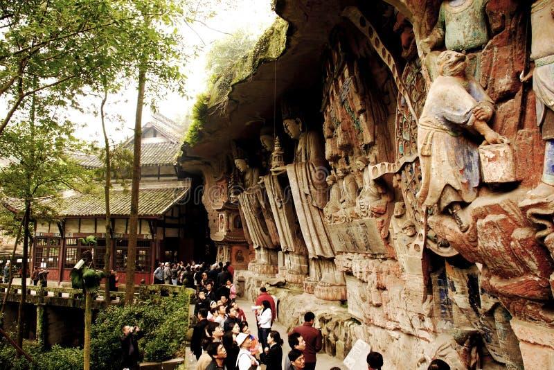 Treasure top mountain stone carving stock image