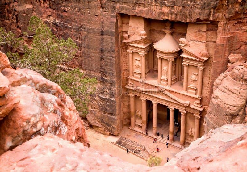 The Treasury. Ancient city of Petra royalty free stock photos