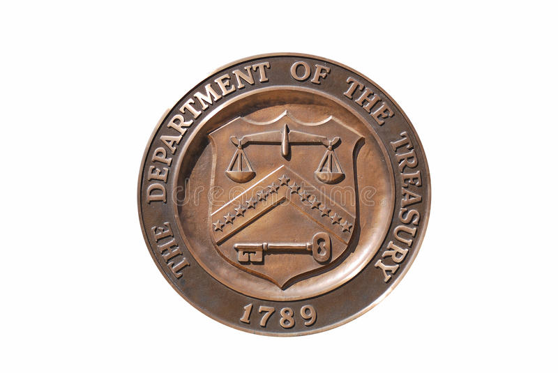 Treasury Department seal, washington dc royalty free stock photos