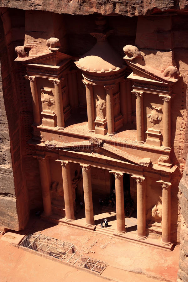 Download The treasury at Petra stock image. Image of architecture - 12074243