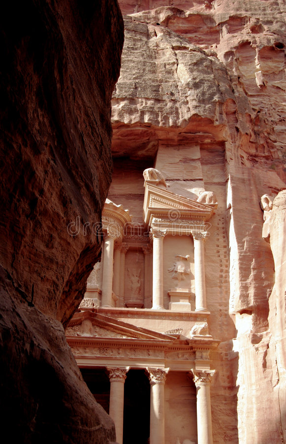 Download The Treasury of Petra stock image. Image of archaeology - 457723