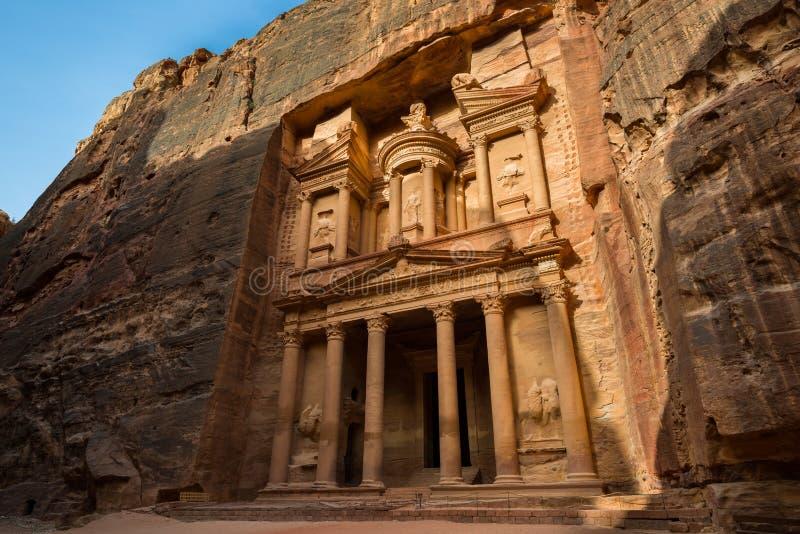 Treasury at Petra stock photo