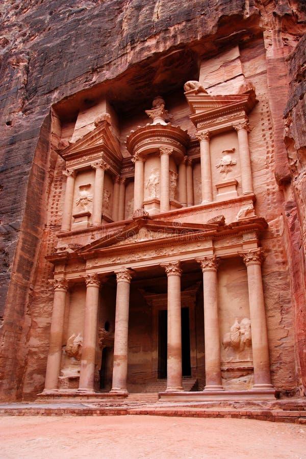 The Treasury, Petra, Jordan royalty free stock photography