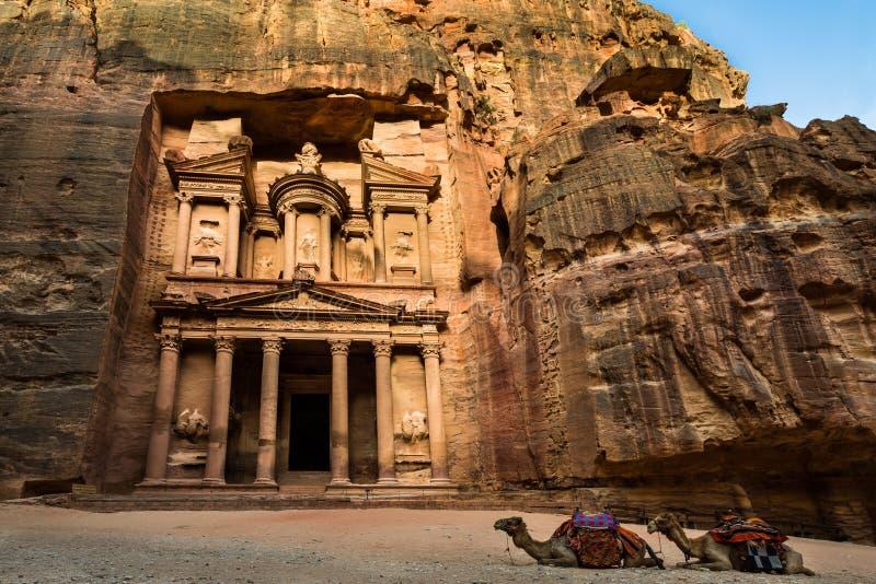 Treasury at Petra stock image