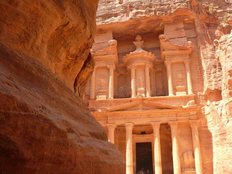 Treasury, Siq, Petra, Jordan stock photo